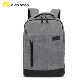 Dido shop KINGSLONG 單寧牛仔風 15.6吋 筆電包 後背包 (BK079)