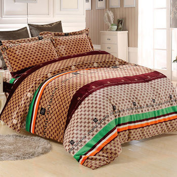 PIERRE BALMAIN 時尚經典 法蘭絨 雙人四件式 兩用被床包組