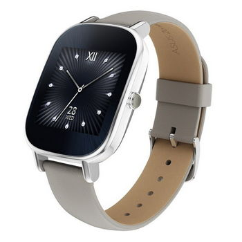 ASUS ZenWatch 2 (小錶18mm) 快充進化版 智慧手錶 真皮裸膚  WI502Q(BQC)-1LKHA0001 -送迷你2 port  USB車充頭