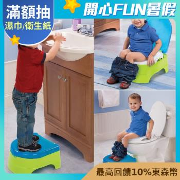 【美國Summer Infant】3合1兒童馬桶練習組(藍綠)