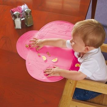 【美國Summer Infant】可攜式防水學習餐墊(粉紅)