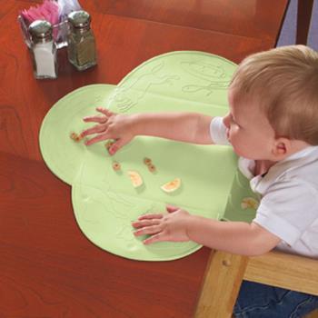 【美國Summer Infant】可攜式防水學習餐墊(粉綠)