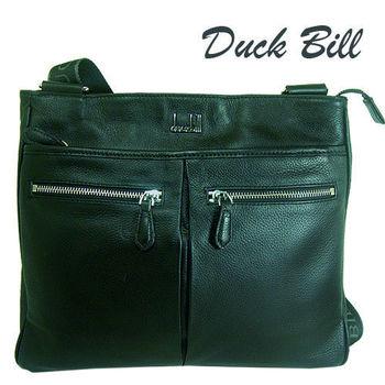 Duck Bill真皮輕便包-黑
