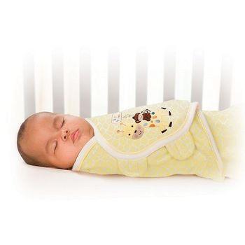 【美國Summer Infant】聰明懶人純棉包巾pure love(長頸鹿寶貝)