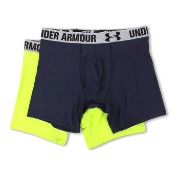 (預購)Under Armour 2016男時尚寶藍霓綠色四角修飾內褲2件組