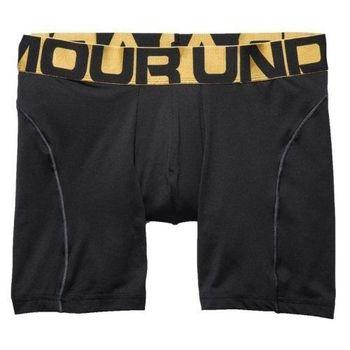 (預購)Under Armour 2016男時尚金腰帶字標黑色四角修飾內褲
