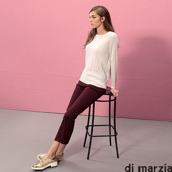 di marzia 經典時尚羊毛短版針織衫(杏色)