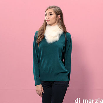 di marzia 經典時尚羊毛短版針織衫(綠)