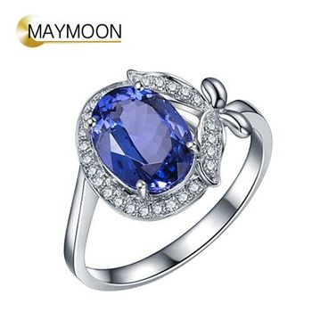 MAYMOON 18K金花蕊丹泉石戒指2.00CT