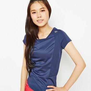 TOP GIRL 素面休閒吸濕排汗短袖T-深藍