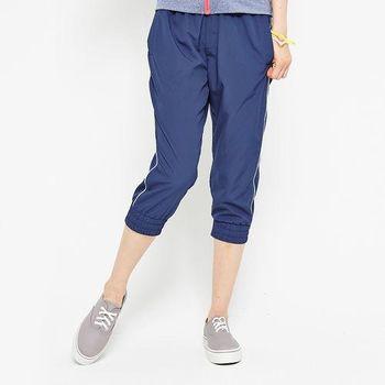 TOP GIRL 純色運動風衣七分褲-藍
