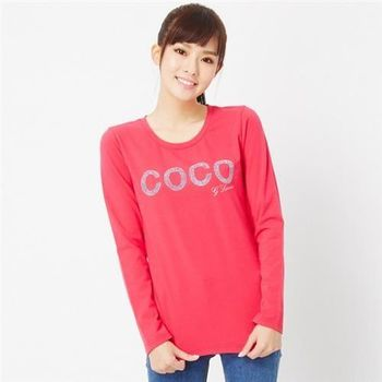 【TOP GIRL】COCO圓領薄長T恤(桃紅)