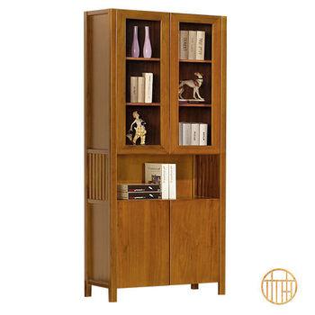 【原柚之初】柚木色全實木3X7尺書櫃