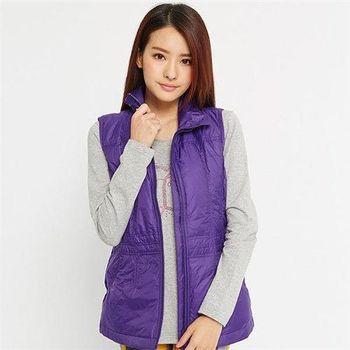 【TOP GIRL】立領鋪棉背心(紫)