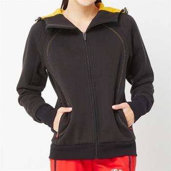 【TOP GIRL】棉質連帽立體剪裁修身外套(黑色)