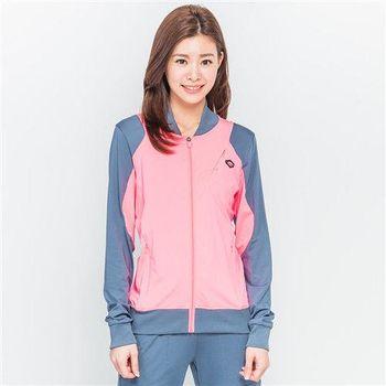 【TOP GIRL】雙色立領運動外套(淺桃)