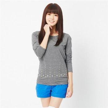 【TOP GIRL】圓領咖啡炭保暖衣(黑色)