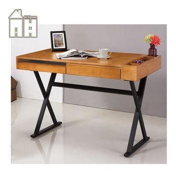 【AT HOME】喬巴4尺柚木色電腦書桌