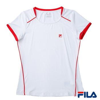 FILA女性吸排抗UV上衣(純淨白)5TEP-1309-WT