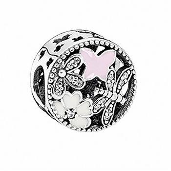 【Pandora】2016春季新款春日時光裸空水鑽純銀墜飾串珠(791842ENMX)