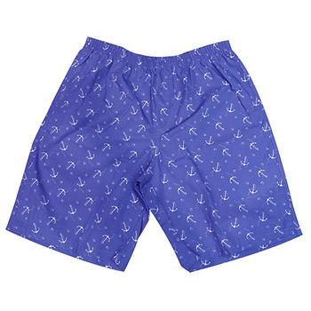 【MURANO】MIT多色系鬆緊帶印花沙灘褲 (男)  藍海軍錨
