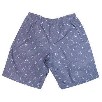 【MURANO】MIT多色系鬆緊帶印花沙灘褲 (男)  灰海軍錨