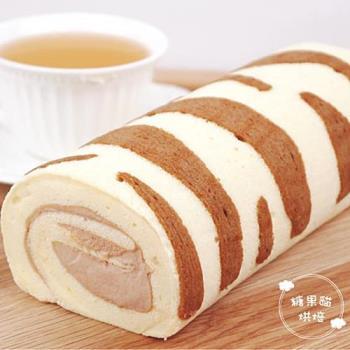 《糖果貓烘焙》貓紋蛋糕捲(420g/條,共兩條)