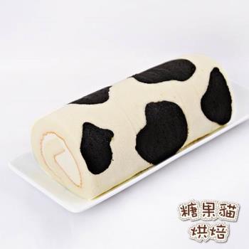 《糖果貓烘焙》乳牛蛋糕捲(420g/條,共兩條)