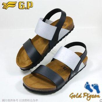 【G.P 休閒個性柏肯鞋】W770-10 黑色 (SIZE:35-39 共二色)