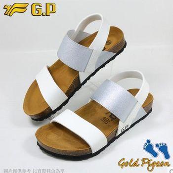【G.P 休閒個性柏肯鞋】W770-77 銀色 (SIZE:35-39 共二色)