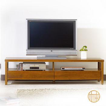 【原柚之初】柚木色全實木電視櫃-6尺