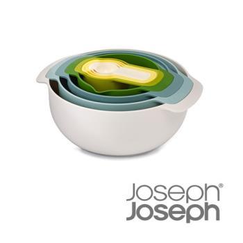 《Joseph Joseph英國創意餐廚》新自然色量杯打蛋盆九件組-40076