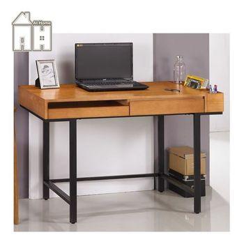 【AT HOME】墨菲4尺柚木色電腦書桌