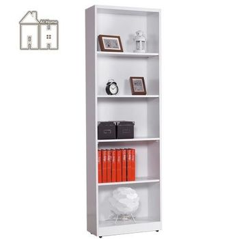 【AT HOME】芬蘭2尺白色開放書櫃