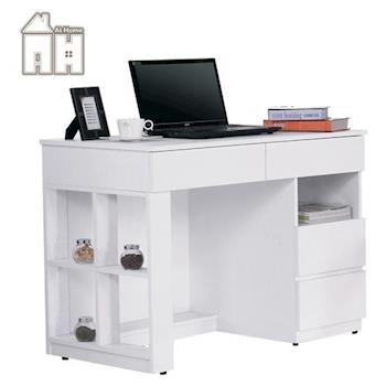 【AT HOME】卡迪3.5尺白色電腦書桌