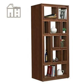 【AT HOME】龐德3尺胡桃色開放書櫃