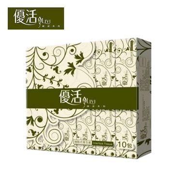Livi優活 抽取式衛生紙100抽x10包x10串/箱