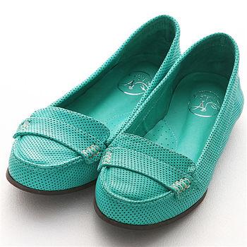NISSA 平底休閒鞋 綠藍色