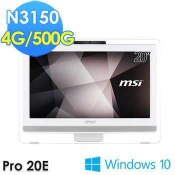 MSI 微星 Pro 20E 4BW-008TW 20吋 N3150 Win10 AIO 桌上型電腦