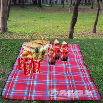 omax加大加厚防水野餐休閒墊-紅色