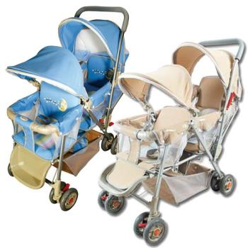 BabyBabe  豪華嬰兒雙人推車~ * 雙篷型 *