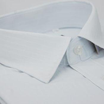 【金安德森】白色寬暗紋窄版長袖襯衫
