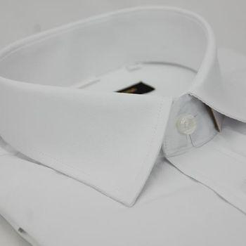 【金安德森】白色細斜紋窄版短袖襯衫