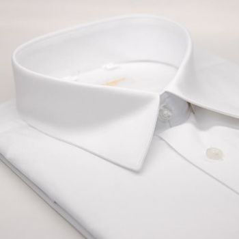 【金安德森】基本款白色窄版短袖襯衫
