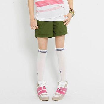 TOP GIRL 純色反折休閒短褲-(共五色)