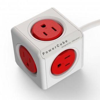 【PowerCube】魔術方塊延長線 (3孔+5插座+3米) 熱情紅