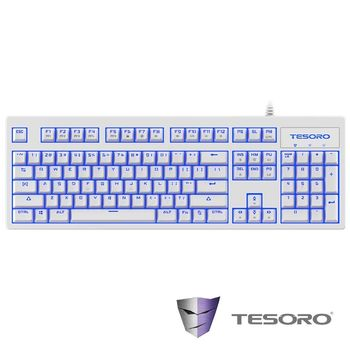 TESORO鐵修羅 神劍Excalibur V2機械式鍵盤-青軸中文白