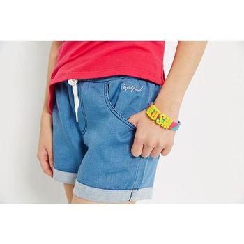 TOP GIRL 反摺針織牛仔短褲-共二色