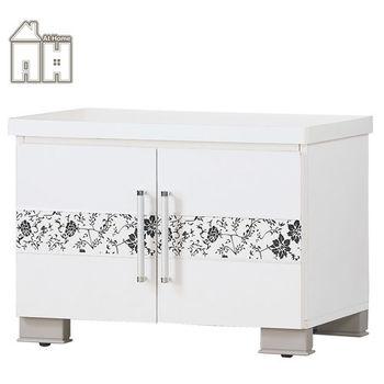 【AT HOME】威爾納2尺白色座鞋櫃