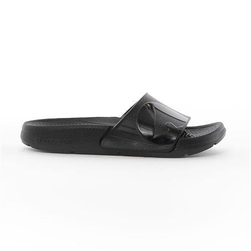 【美國 AIRWALK】輕盈舒適中性EVA休閒多功能室內外拖鞋 -男女款-深黑